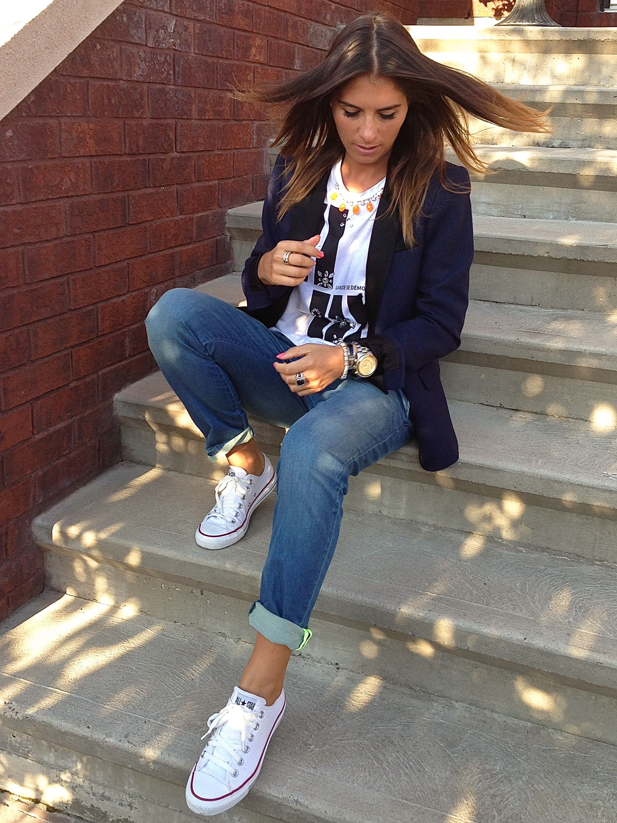 converse blanche ootd